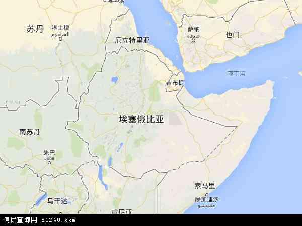 埃塞俄比亚地图 - 埃塞俄比亚电子地图 - 埃塞俄比亚高清地图 - 2016年埃塞俄比亚地图