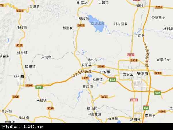 安阳县地图 - 安阳县卫星地图