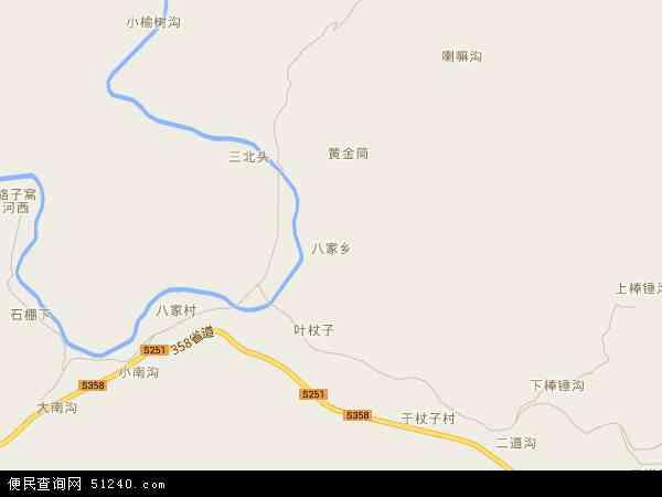 中国河北省承德市承德县八家乡地图(卫星地图)