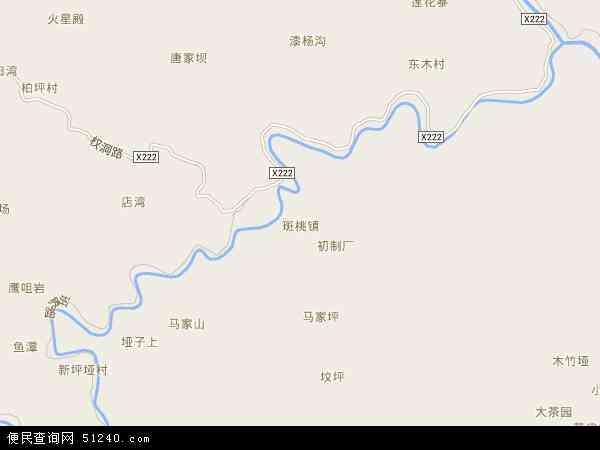 中国陕西省安康市紫阳县斑桃镇地图(卫星地图)