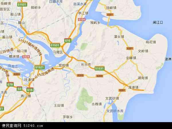 中国福建省福州市长乐市地图(卫星地图)
