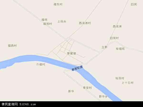 中国湖南省益阳市沅江市草尾镇地图(卫星地图)