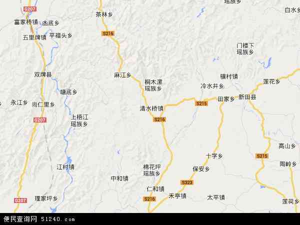 中国湖南省永州市双牌县茶林镇地图(卫星地图)
