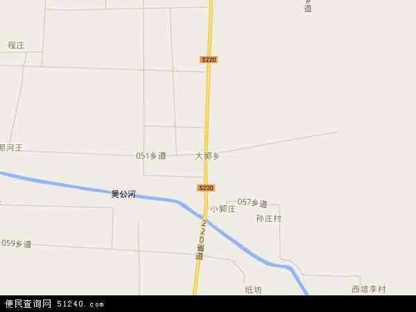 中国河南省漯河市临颍县大郭乡地图(卫星地图)