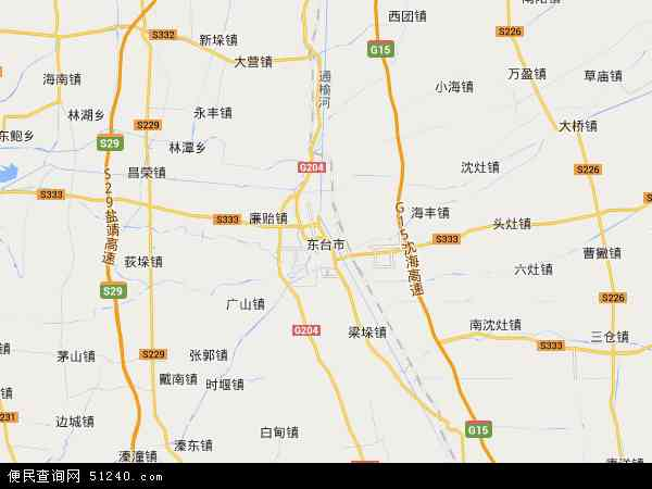 东台市地图 - 东台市卫星地图