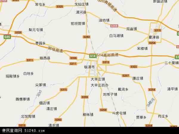 中国山东省聊城市临清市戴湾镇地图(卫星地图)