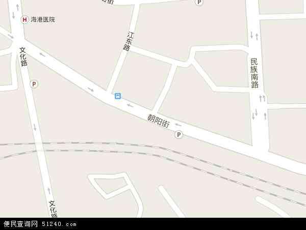 中国河北省秦皇岛市海港区东环路地图(卫星地图)