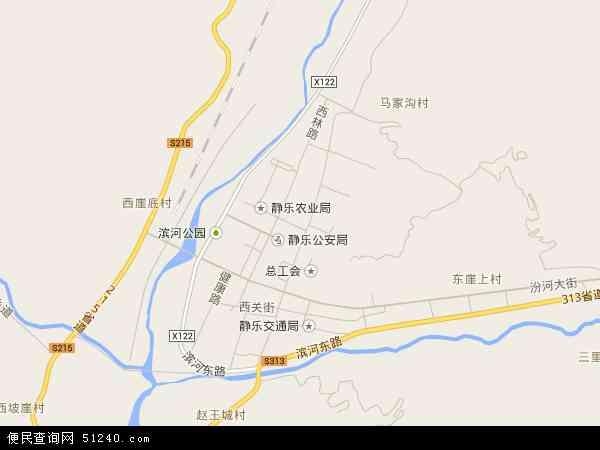 中国山西省忻州市静乐县鹅城镇地图(卫星地图)