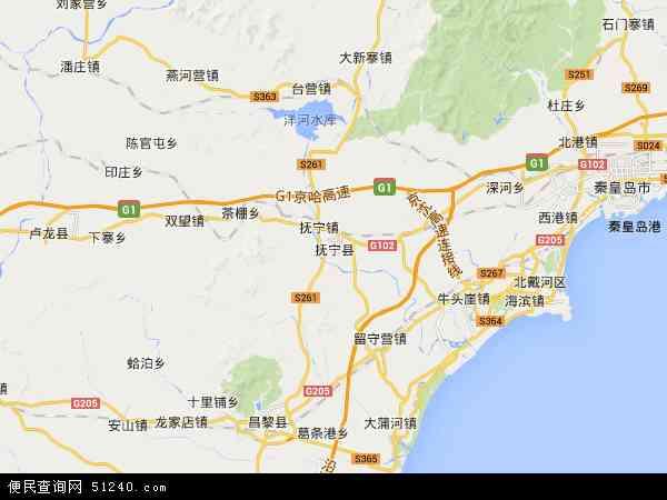 抚宁县地图 - 抚宁县卫星地图图片