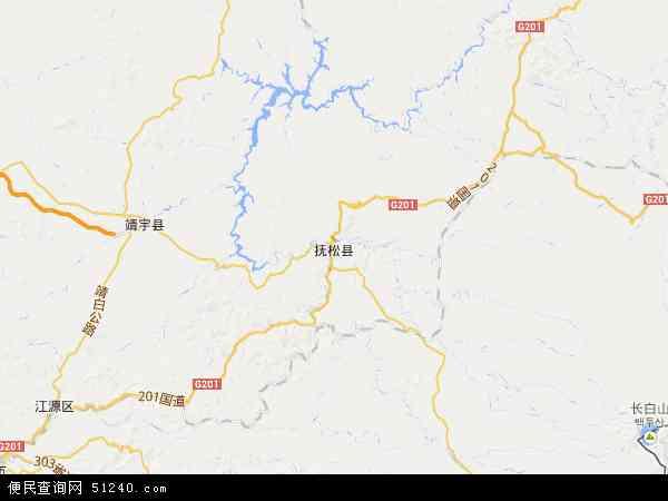 中国吉林省白山市抚松县地图(卫星地图)