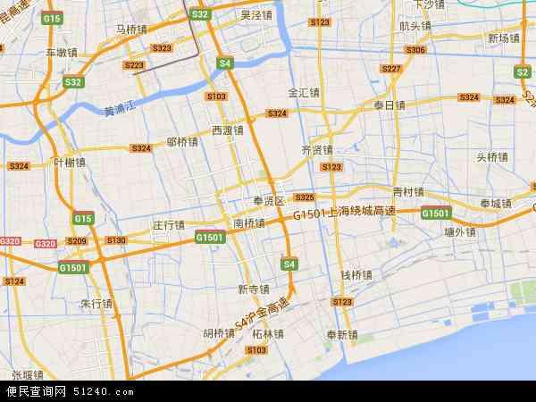奉贤区地图 - 奉贤区卫星地图