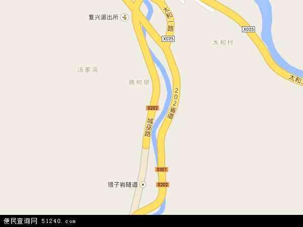 中国重庆市城口县高燕镇地图(卫星地图)