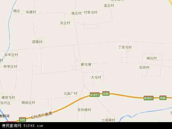 中国山东省菏泽市郓城县郭屯镇地图(卫星地图)