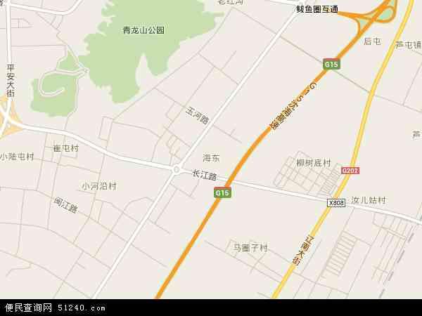 中国辽宁省营口市鲅鱼圈区海东地图(卫星地图)