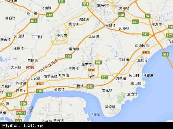 浙江嘉兴海宁_浙江省海宁市地图-
