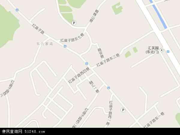 红庙子地图 - 红庙子电子地图 - 红庙子高清地图 - 2017年红庙子地图
