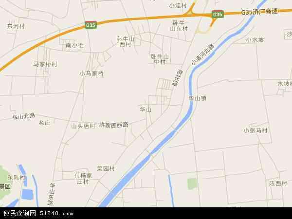 中国山东省济南市历城区华山地图(卫星地图)