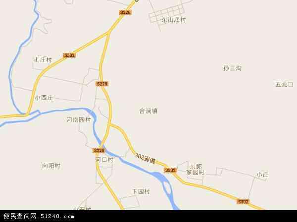 中国河南省安阳市林州市合涧镇地图(卫星地图)