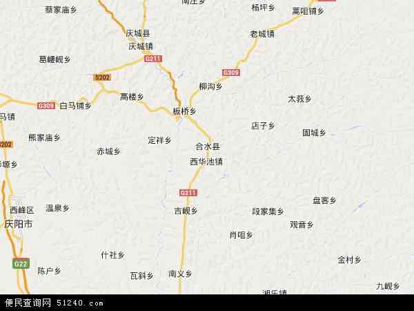 合水县地图 - 合水县卫星地图图片