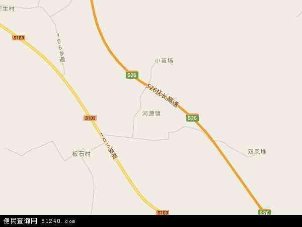中国吉林省四平市伊通满族自治县河源镇地图