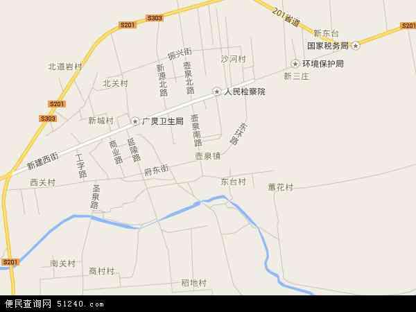 中国山西省大同市广灵县壶泉镇地图(卫星地图)图片