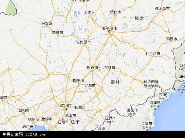 吉林省地图 - 吉林省卫星地图