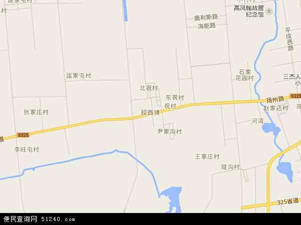 中国山东省青岛市胶州市胶西镇地图(卫星地图)
