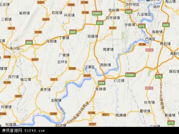 江津区地图 - 江津区卫星地图 - 江津区高清航拍地图