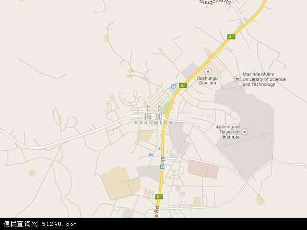 肯尼亚卡卡梅加地图(卫星地图)