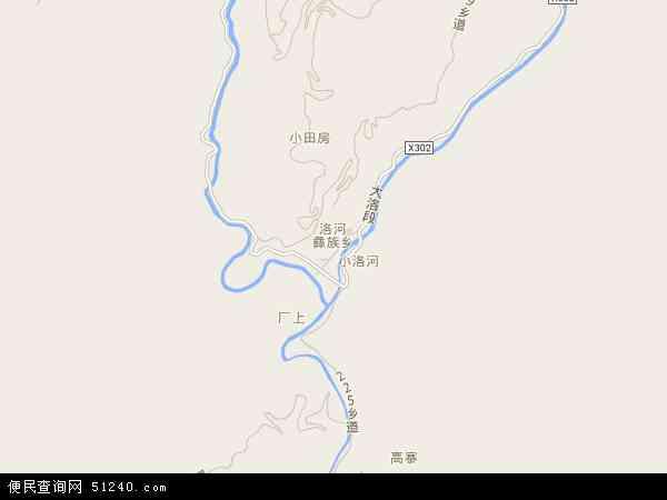 中国云南省玉溪市红塔区洛河乡地图(卫星地图)