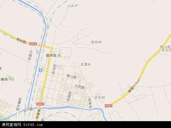 中国吉林省吉林市龙潭区龙潭地图(卫星地图)