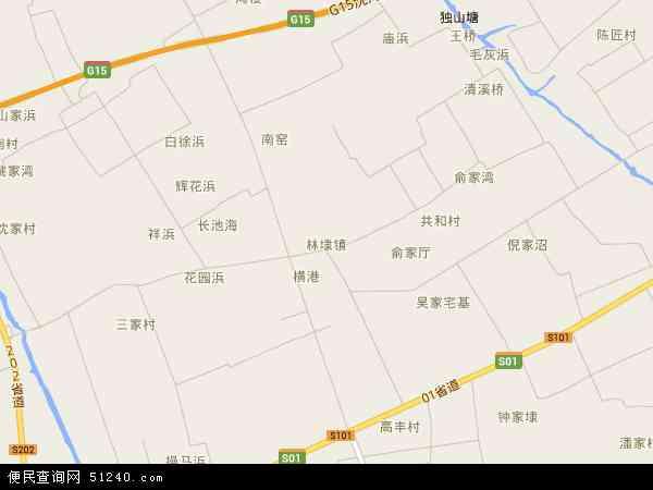 中国浙江省嘉兴市平湖市林埭镇地图(卫星地图)