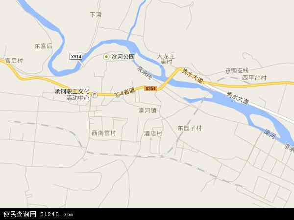 中国河北省承德市双滦区滦河镇地图(卫星地图)