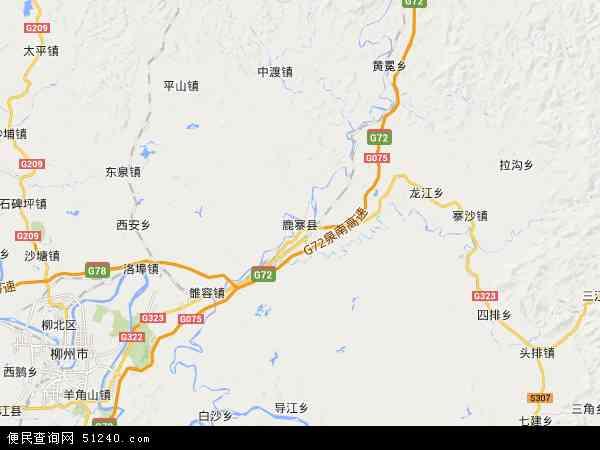 广西柳州鹿寨县地图展示