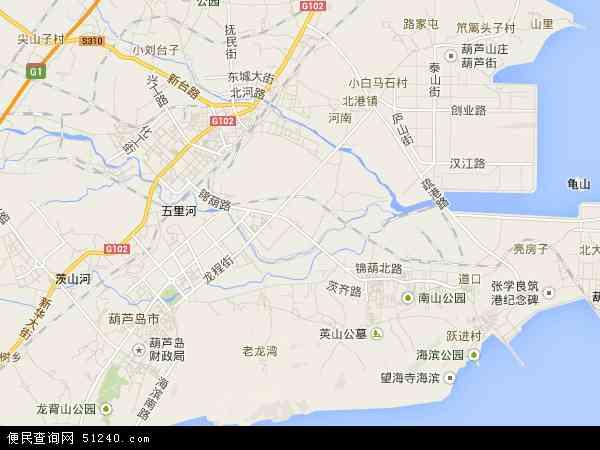 中国辽宁省葫芦岛市龙港区地图(卫星地图)