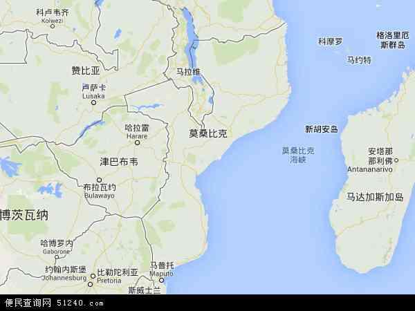 莫桑比克地图 - 莫桑比克电子地图 - 莫桑比克高清地图 - 2016年莫桑比克地图