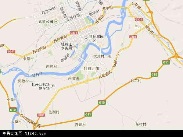 牡丹江市地图 - 牡丹江市卫星地图