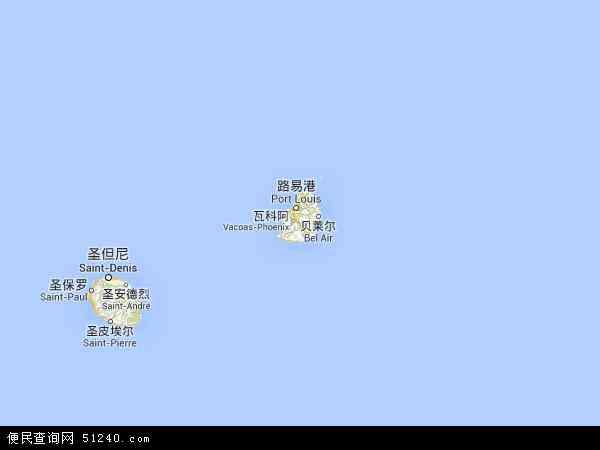 毛里求斯地图 - 毛里求斯电子地图 - 毛里求斯高清地图 - 2016年毛里求斯地图