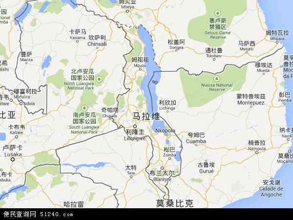 马拉维地图 - 马拉维电子地图 - 马拉维高清地图 - 2016年马拉维地图