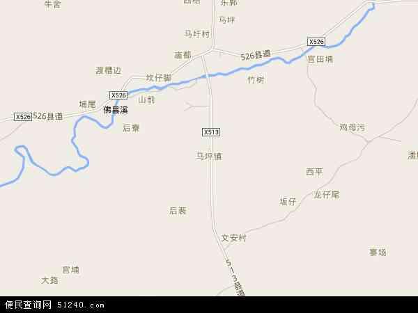 中国福建省漳州市漳浦县马坪镇地图(卫星地图)
