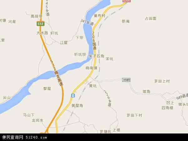 梅南镇地图 - 梅南镇电子地图