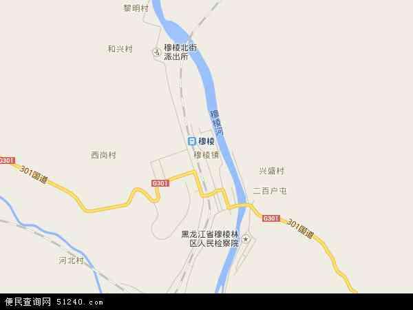 中国黑龙江省牡丹江市穆棱市穆棱镇地图(卫星地图)