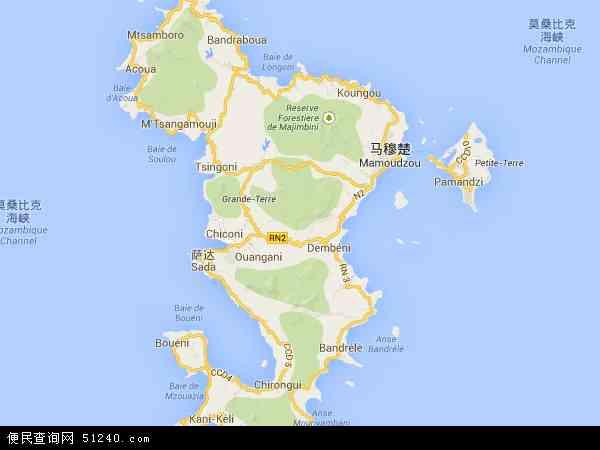 马约特地图 - 马约特电子地图 - 马约特高清地图 - 2016年马约特地图