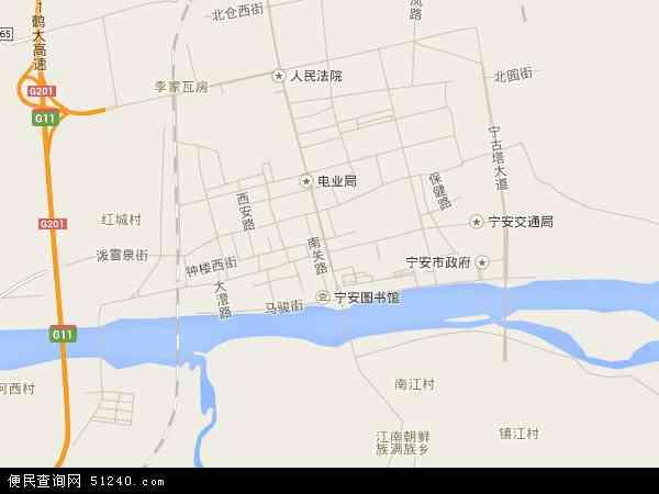 中国黑龙江省牡丹江市宁安市宁安镇地图(卫星地图)