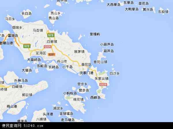 朱家尖手绘地图