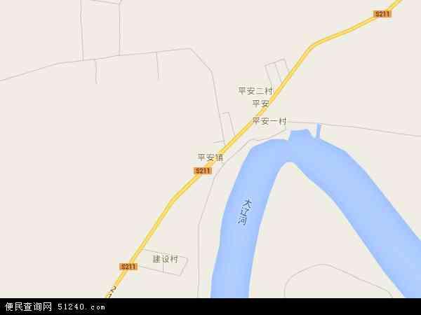 中国辽宁省盘锦市大洼县平安镇地图(卫星地图)