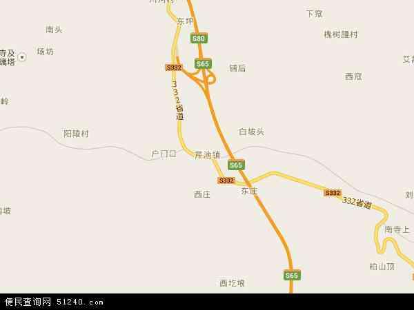 中国山西省晋城市阳城县芹池镇地图(卫星地图)