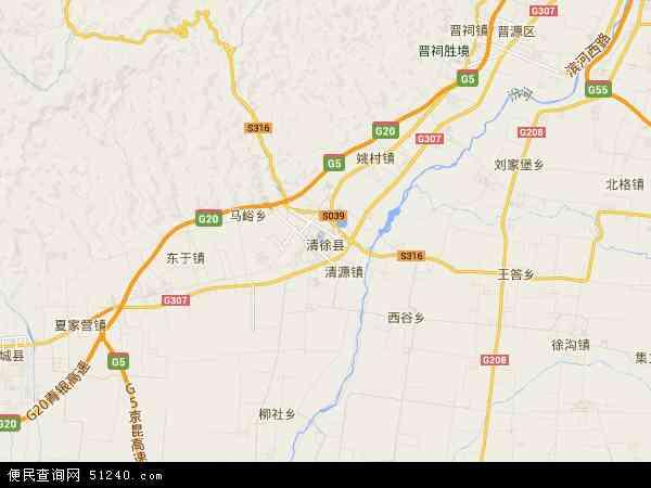 中国山西省太原市清徐县地图(卫星地图)