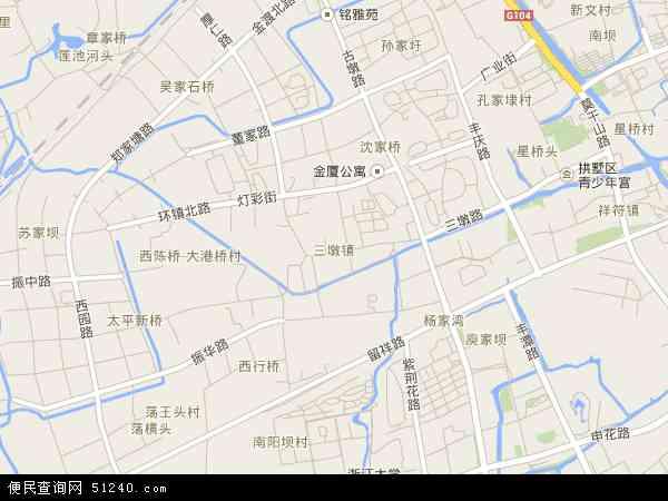 三墩镇地图 - 三墩镇卫星地图