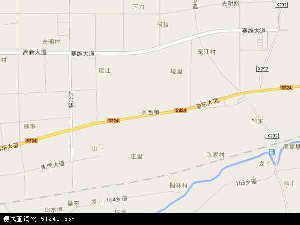 中国江西省新余市渝水区水西镇地图(卫星地图)